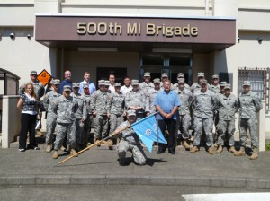 Lou Tessmann, CFI with the 500th Military Intelligence Brigade